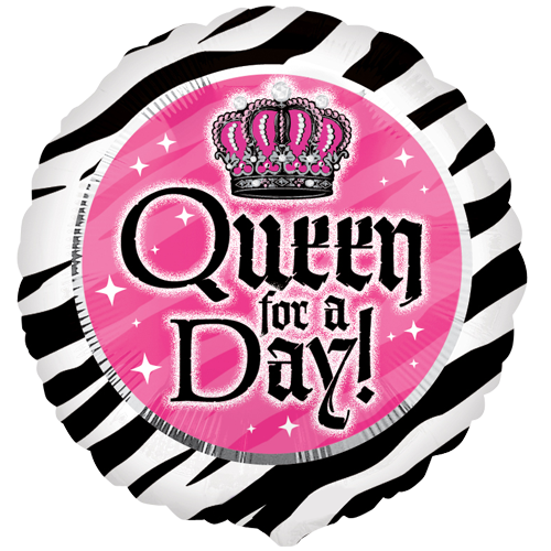 18 queen for a day foil balloon. Black Bedroom Furniture Sets. Home Design Ideas