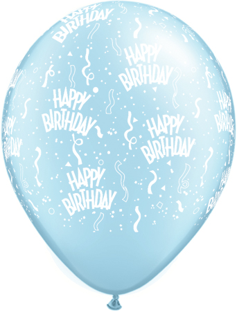 "11"" Birthday-A-Round Light Blue Latex x 25"