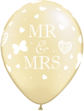 11 Latex Mrs Pearl And X Ivory Balloons Mr 25 v08mnNw