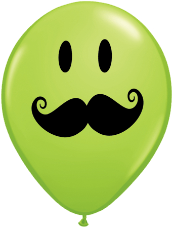 11 Special Assorted Smile Face Mustache Latex Balloons X