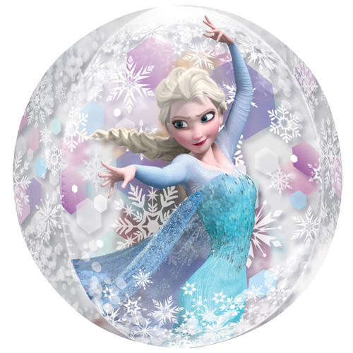 16 frozen anna and elsa snowflake orbz ultrashape balloon. Black Bedroom Furniture Sets. Home Design Ideas