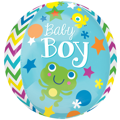 "16"" Sweet Baby Boy Orbz Foil Balloon"
