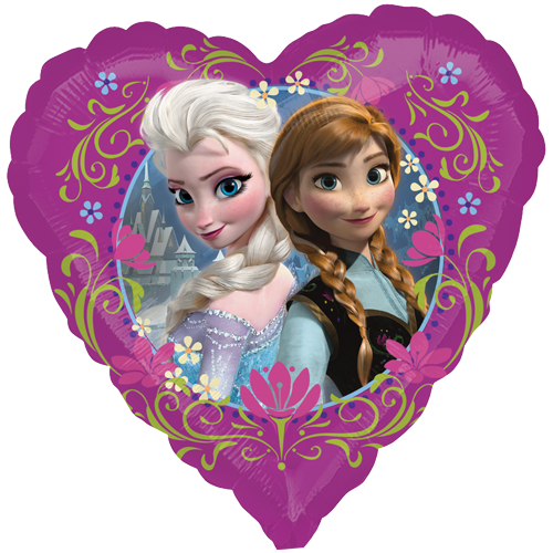 "18"" Disney Frozen Love Standard Heart Balloon"