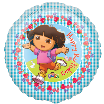 18 Dora The Explorer Happy Birthday Foil Balloon SALE