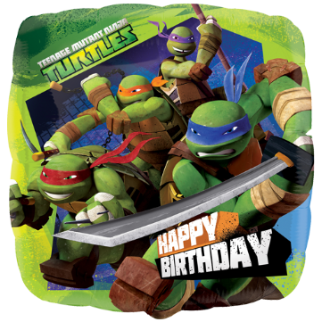 "18"" Teenage Mutant Ninja Turtles Happy Birthday Foil Balloon"