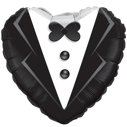 "18"" Wedding Tuxedo Foil Balloon"