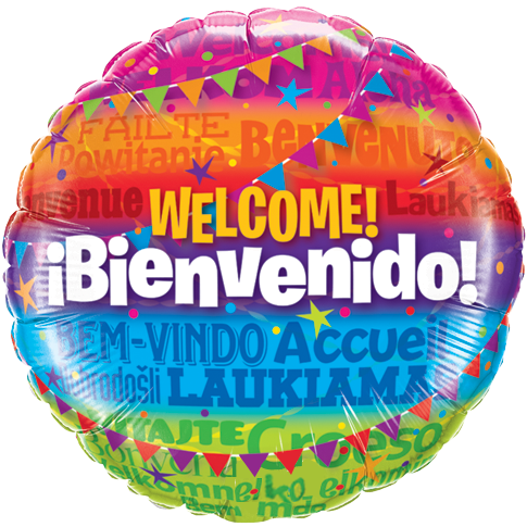 "18"" Welcome Ibienvenido Foil Balloon"