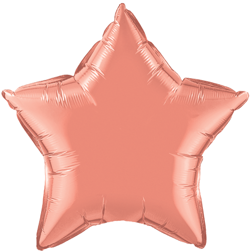 "20"" Coral Plain Star Foil Balloon"