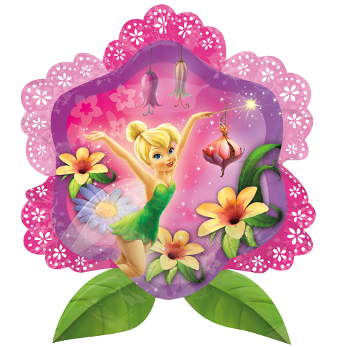 27 Quot Disney Fairies Tinkerbell Flower Foil Balloon