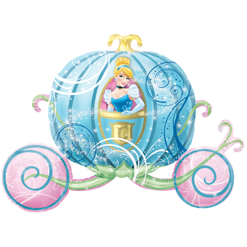33 cinderella carriage supershape foil balloon 7695 - Cendrillon et son carrosse ...