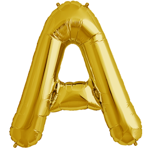 34quot gold letter a foil balloon for Gold letter balloons