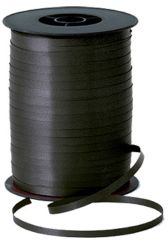 500m Black Curling Ribbon