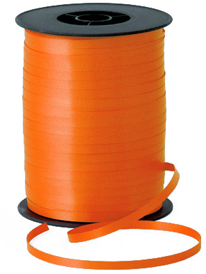 500m Orange Curling Ribbon