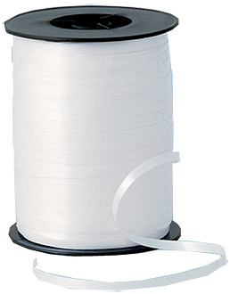 500m White Curling Ribbon