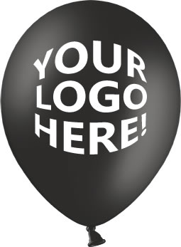 Black Latex Balloons with Custom Printing
