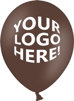 Cocoa Brown Latex Balloons with Custom Printing