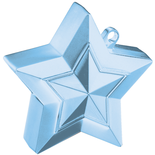 Pearl Light Blue 3D Star Weight